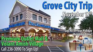 Grove City Outlet Map Grove City Bus Trip U2013 Get All Of Your Holiday Shopping Done