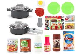 Red Colour Kitchen - my little chef kitchen set blue u0026 red colour toys household