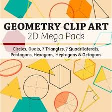 geometry clipart 2d shapes pencil and in color geometry clipart