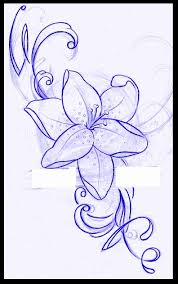 lily tattoo design by thirteen7s on deviantart