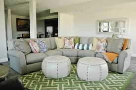 Light Gray Sectional Sofa by Light Gray Sectional Transitional Living Room Highgate House
