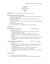 Administrative Assistant Example Resume Sample Resume For Office Assistant With No Experience Template