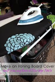 small table top ironing board how to stencil fabric and ironing board cover tutorial rae gun