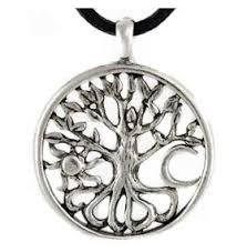 amulet pendant celtic tree of pewter the magickal cat