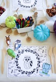 decor thanksgiving table decorations for kids to make