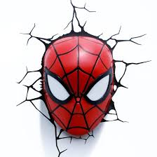 marvel 3d wall nightlight spider man mask target