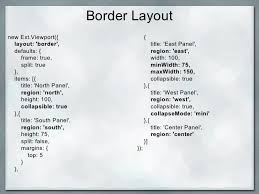 split layout js ext js greek