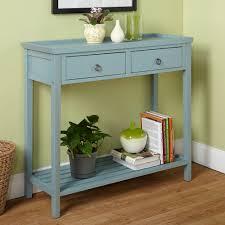 Blue Console Table Abney Console Table Antique Blue Walmart