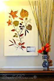 zensible mama diy fall leaf and tree branch 3d wall art poster