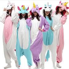 Womens Unicorn Halloween Costume Aliexpress Buy Pink Blue Purple Adults Pijama Women Men
