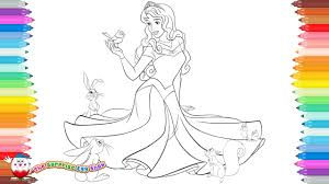 coloring pages disney princess aurora sleeping beauty 37 youtube