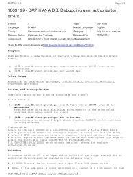 1809199 sap hana db debugging user authorization pdf information