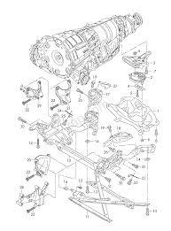 Audi Q5 6 Cylinder - support frame transmission securing parts 6 spee audi q5 aq5