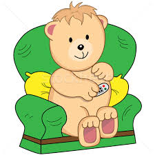 Clipart Armchair Bear Sat In Armchair Cartoon Vector Illustration Toots 1423922