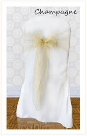 Champagne Chair Sashes Chair Sash Hire For Weddings