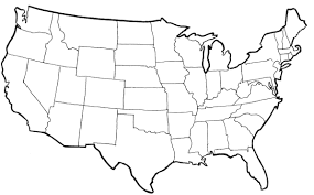 United States Map Art by Clipart Of United States Map Outline Clipartfest