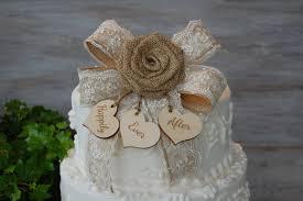 rustic cake topper burlap cake topper shabby chic cake