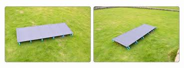 Folding Camp Bed Folding Camp Bed Camping Mat Ultralight Single Cot Sturdy