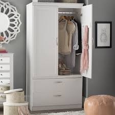 Armoire With Hanging Space South Shore Acapella Armoire U0026 Reviews Wayfair