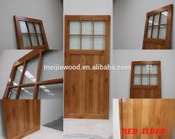 Knotty Alder Interior Door by Western 6 Lite Flat Top With One Panel Knotty Alder V Groove