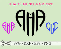 three letter monogram heart shape three letter monogram monogramsvg by svg designs