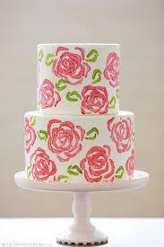 diy celery stamp rose cake