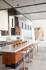 floating island kitchen contemporary with modern wood cabinets