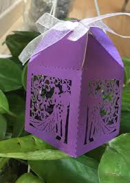 bride groom wedding favor boxes 100pcs purple gift boxes with ribbon handmade bride groom