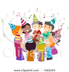 singing happy birthday clipart kids singing happy birthday around a cake royalty free