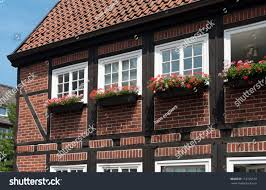 Planter S House by Typical Halftimbered German House Flower Planters Stock Photo