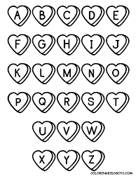 free printable alphabet coloring art galleries in alphabet pages