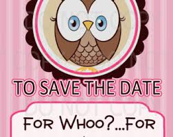 save the date birthday cards owl save the date etsy