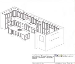 20 20 Kitchen Design Drawn Kitchen Isometric View Pencil And In Color Drawn Kitchen