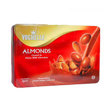 send gift to kerala vochelle chocolate coated almonds