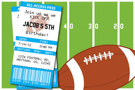 football themed birthday party invitation thank you card baby
