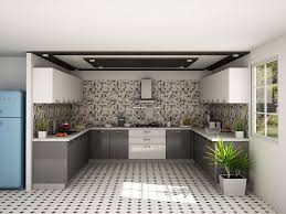 Design Of Modular Kitchen Cabinets Osiris U Shaped Modular Kitchen Designs India Homelane
