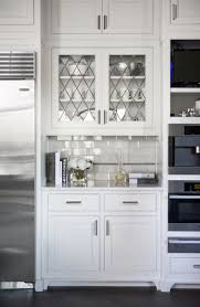 White Glass Cabinet Doors Leaded Glass Cabinet Doors Transitional Kitchen