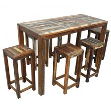 home bar table set nirvana reclaimed timber dining setting chair table set 1 2m