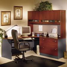 Bush Desks With Hutch Bush Series C Corner Desk And Hutch With Lateral File Hayneedle