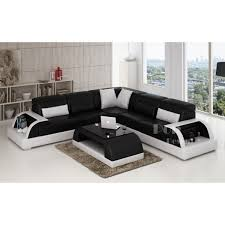 canapé d angle noir et blanc pas cher canape angle cuir noir deco in avec canape angle