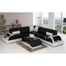 canapé d angle blanc et noir canape angle cuir noir deco in avec canape angle