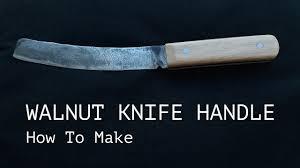 how to make walnut knife handle knifemaking tutorial my