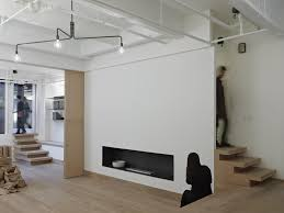 modern shelves for living room minimalist wood floors floating shelves white walls exposed pipes