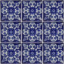 Handmade Mexican Pottery - c395 25 tiles ceramic mexican talavera handmade tile 4x4 clay