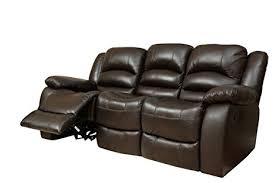 amazon com abbyson dallas italian leather reclining sofa home