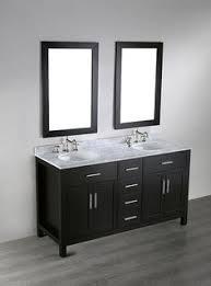 60 Bathroom Vanity Double Sink by Design Element Cosmo 60