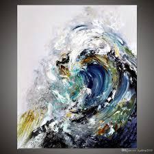 kgtech rolling ocean waves art blue sea waters painting handmade