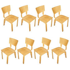 Thonet Vintage Chairs Eight Thonet Bentwood Birch Plywood Dining Chairs At 1stdibs