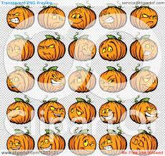 pumpkin no background clipart of halloween pumpkin characters royalty free vector