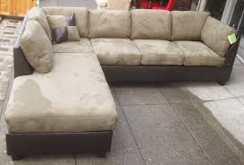 leather and microfiber sectional sofa interior brown suede sectional couch microsuede sectional